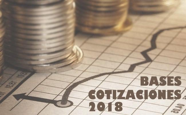 bases de cotización 2018