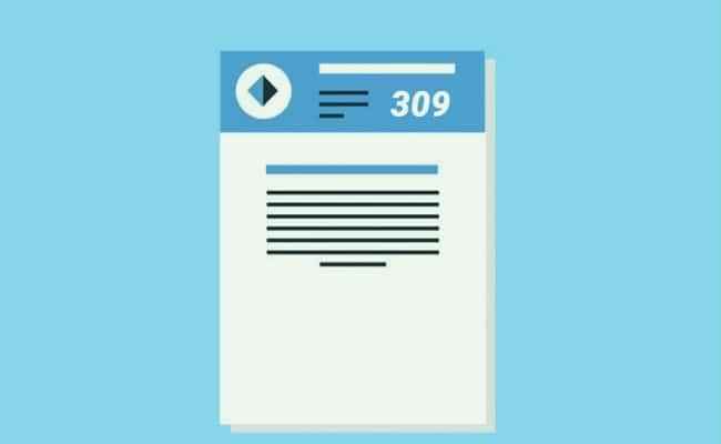 plazos para presentar el 309