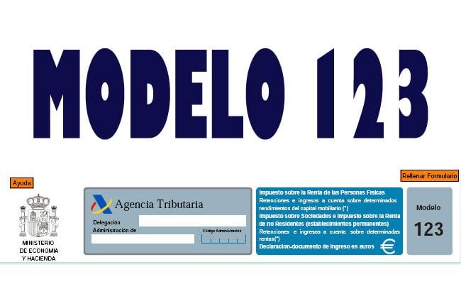 modelo 123 cuando se presenta