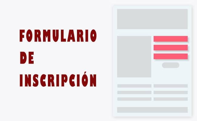 ejemplos de formulario de inscripción