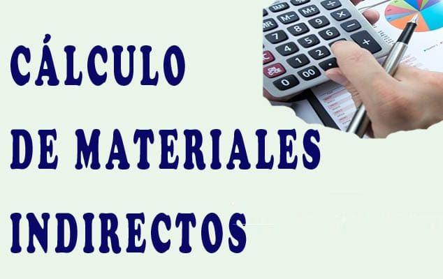 materiales indirectos, ejemplos y explicación