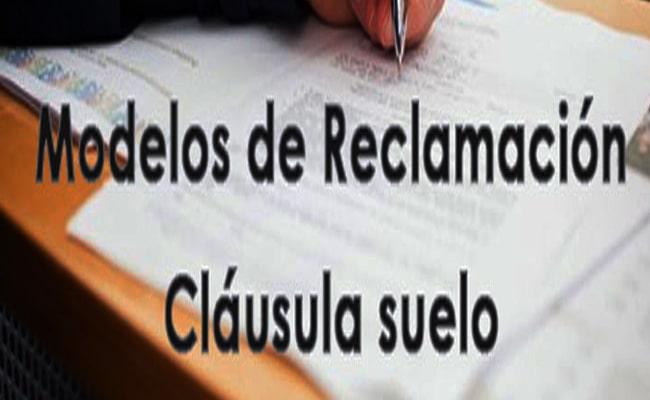 modelo reclamación clausula suelo