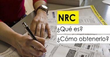 NRC o número de referencia
