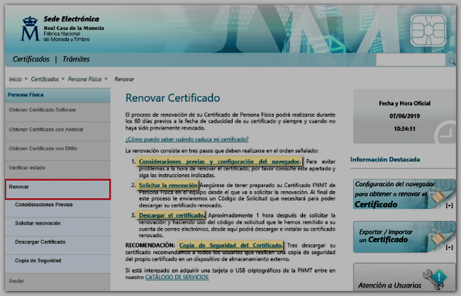 renovar certificado digital